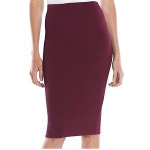 Apt. 9 textured midi pencil skirt
